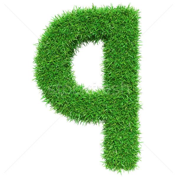 Green Grass Letter Q Stock photo © cherezoff