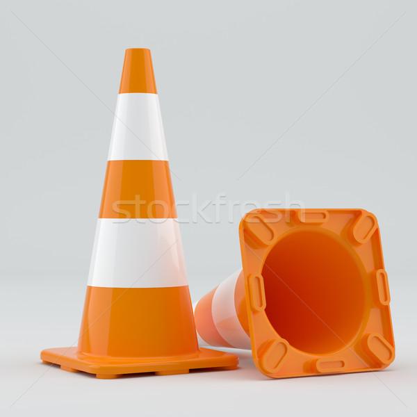 Two traffic cones Stock photo © cherezoff