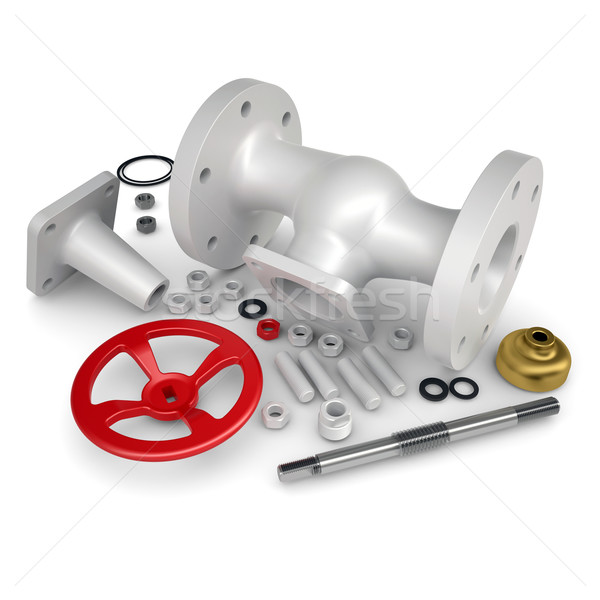 Disassembled valve Stock photo © cherezoff