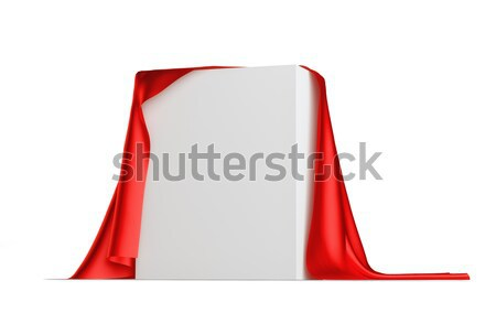 White box covered with red cloth Stock photo © cherezoff