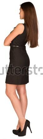 女性実業家 ドレス 背面図 見える 距離 手 ストックフォト © cherezoff