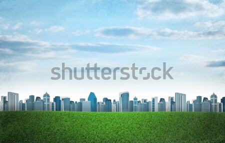 Cityscape on nature background Stock photo © cherezoff