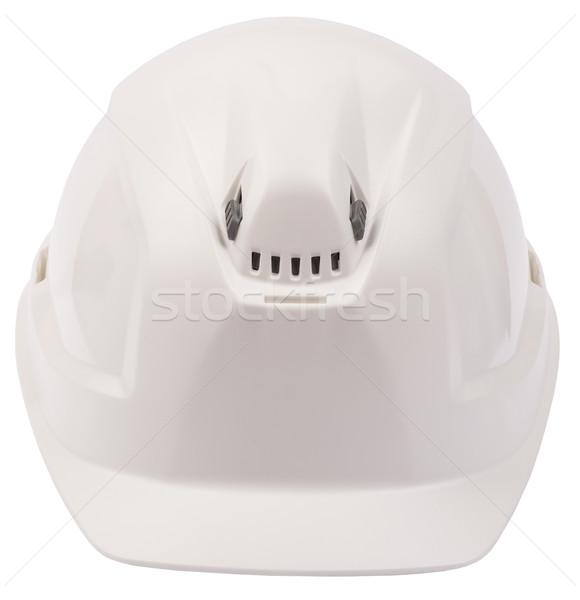 Beyaz kask yalıtılmış görmek Stok fotoğraf © cherezoff