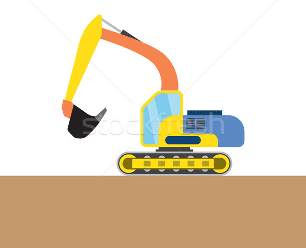 Colorful digger picture Stock photo © cherezoff