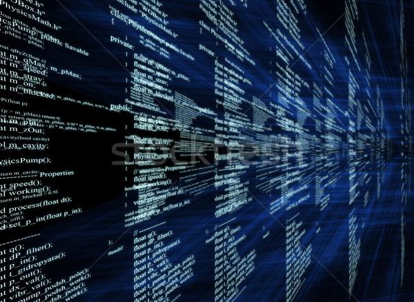 Matrix on blue Stock photo © cherezoff