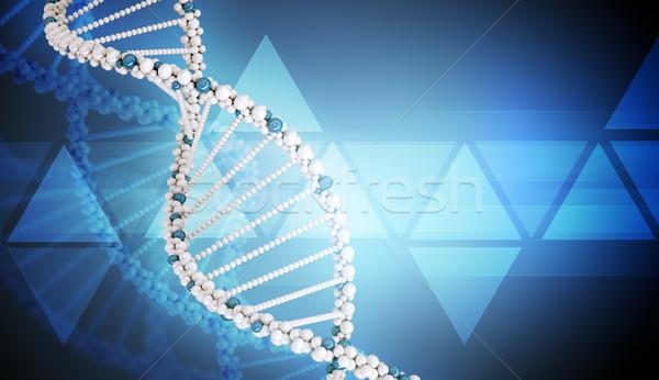DNA鑑定を 青 暗い 抽象的な 表示 ストックフォト © cherezoff