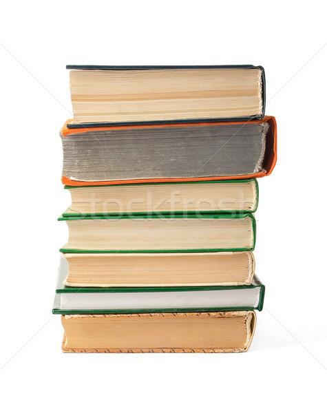 Livros isolado branco Foto stock © cherezoff