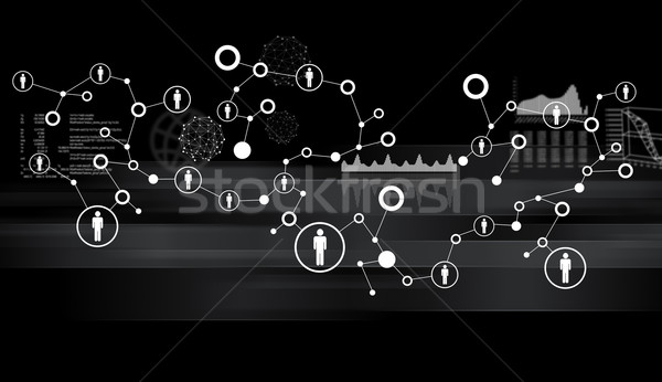 Abstract background with computer icons Stock photo © cherezoff