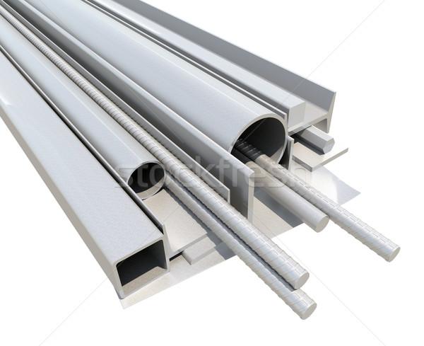 ストックフォト: 金属 · 製品 · 3dのレンダリング · 孤立した · 白