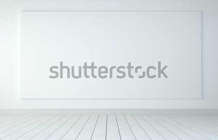 Stock fotó: Felfelé · fehér · tiszta · poszter · szoba · fapadló