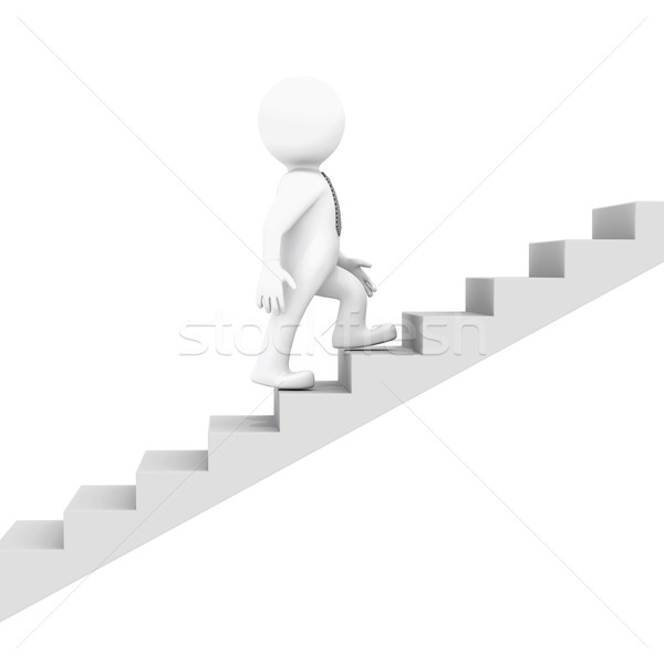 White man goes up the ladder Stock photo © cherezoff