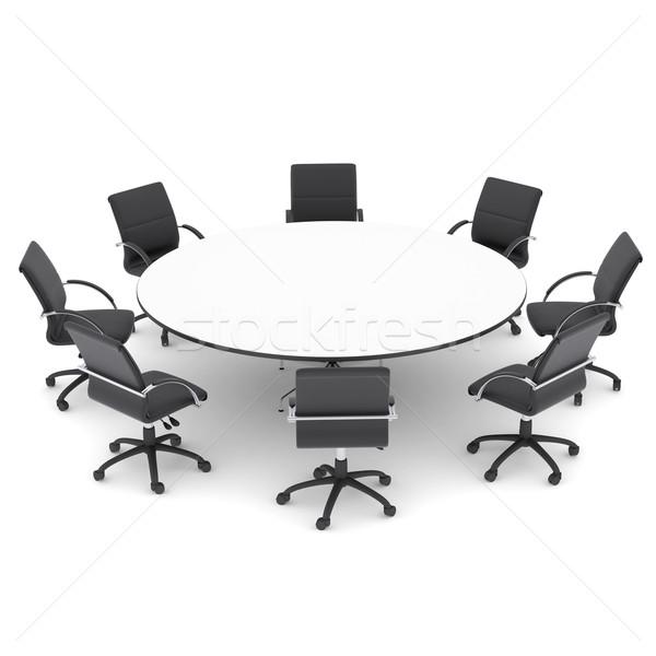 Stok fotoğraf: Ofis · sandalye · tablo · yalıtılmış · vermek · beyaz
