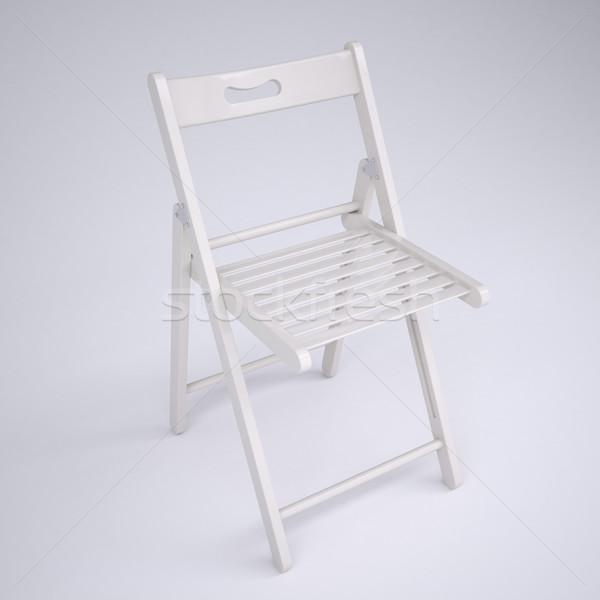 White folding chair Stock photo © cherezoff