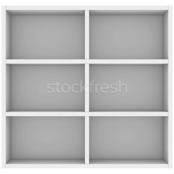 White shelves Stock photo © cherezoff