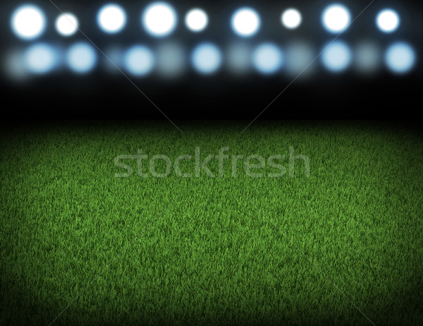 ночь футбола арена спорт свет Сток-фото © cherezoff