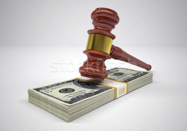 Gavel and wads money Stock photo © cherezoff