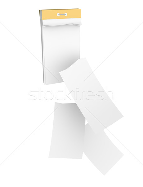Tear-off calendar with three empty detached sheets Stock photo © cherezoff