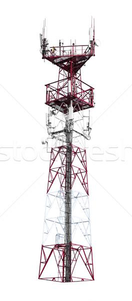 Сток-фото: красочный · башни · лестницы · изолированный · белый