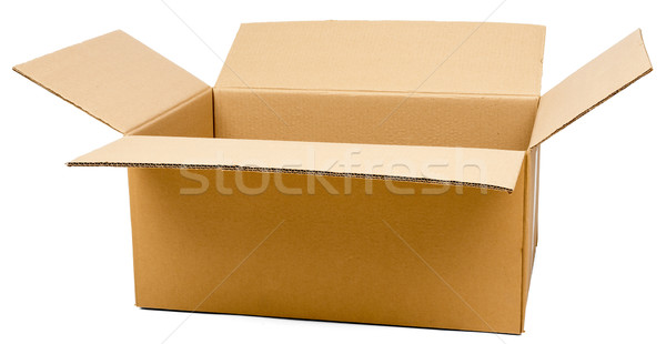 Opened brown carton shipping box Stock photo © cherezoff