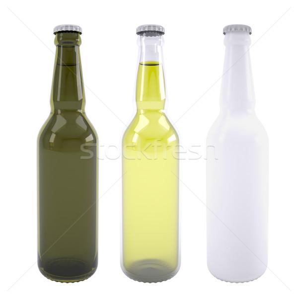Three bottles of beer Stock photo © cherezoff