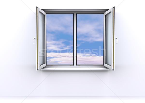 öffnen Fenster Himmel Büro Licht Modell Stock foto © cherezoff