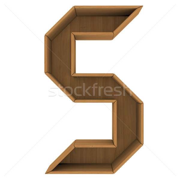 Wooden cabinet-letter Stock photo © cherezoff
