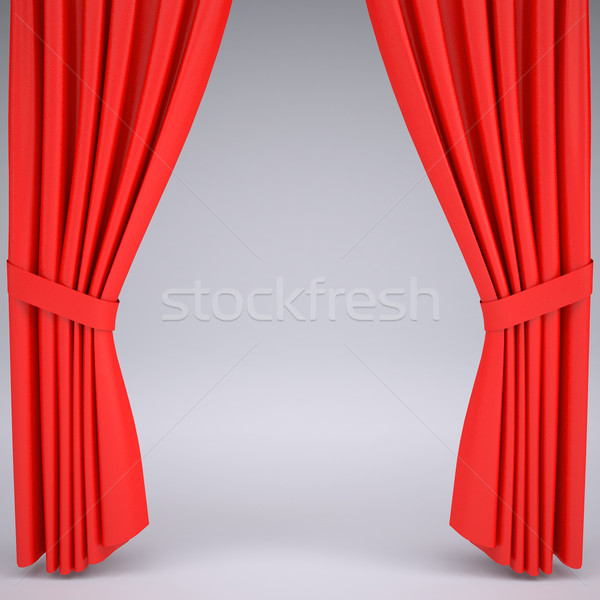 Open the red curtain Stock photo © cherezoff