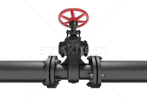 Highly detailed three-dimensional model valves and pipes Stock photo © cherezoff