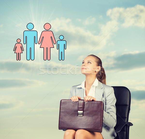 деловой женщины юбка блузка куртка сидят Председатель Сток-фото © cherezoff