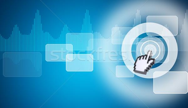 Cursor virtual tela azul Foto stock © cherezoff