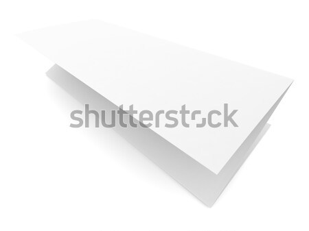 Folded blank paper booklet on white background Stock photo © cherezoff