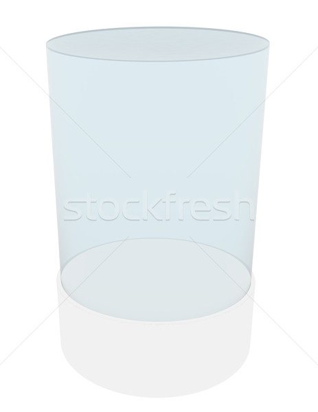 3D empty glass cylinder for exhibit Stock photo © cherezoff