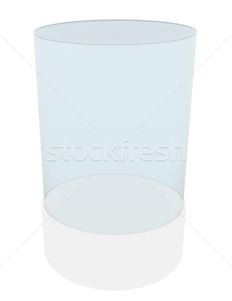 Stockfoto: 3D · lege · glas · cilinder