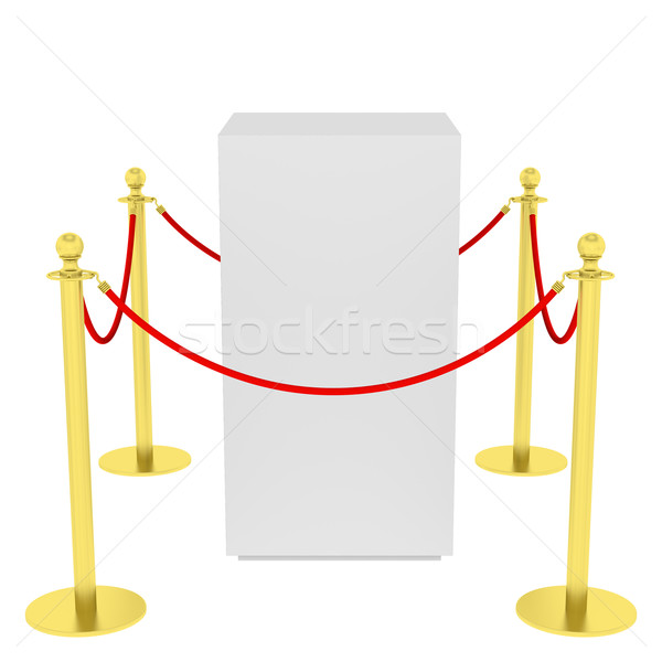 Showcase with tiled stand barriers for exhibit Stock photo © cherezoff