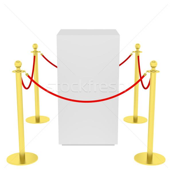 ショーケース タイル張りの スタンド 展示 空っぽ 孤立した ストックフォト © cherezoff