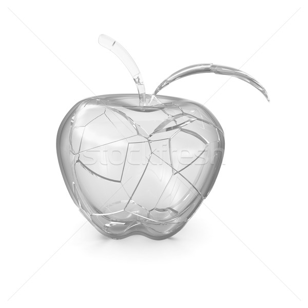 Broken glass apple Stock photo © cherezoff