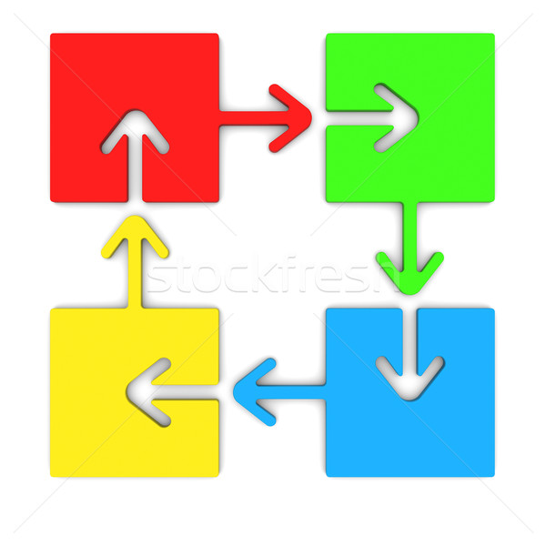 Color Puzzles arrow Stock photo © cherezoff