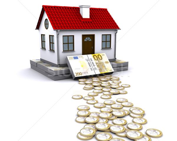 Istálló alap otthon Euro pénz üzlet Stock fotó © cherezoff