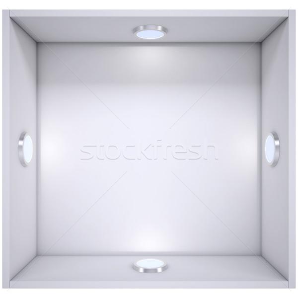 Fehér polc fény forrás izolált render Stock fotó © cherezoff