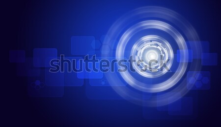 Glow circles and rectangles on blue gradient background Stock photo © cherezoff