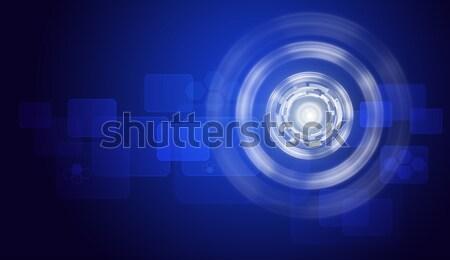 Parıltı circles mavi eğim teknoloji Stok fotoğraf © cherezoff