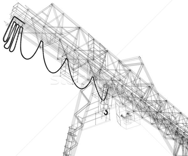 クレーン ベクトル レンダリング 3D eps10 ストックフォト © cherezoff