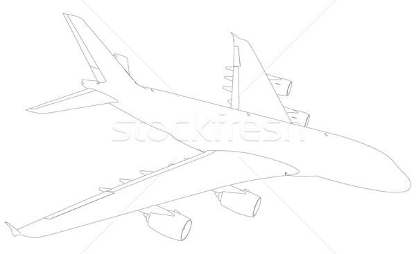Avion haut vue 3D Photo stock © cherezoff
