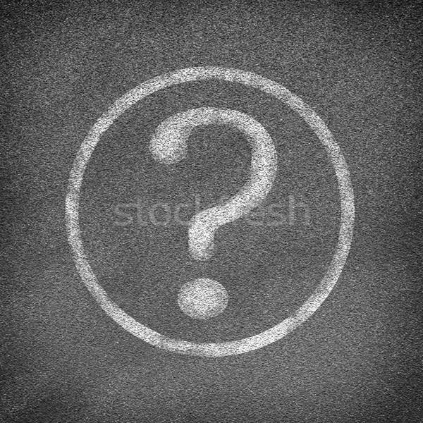 асфальт дороги текстуры круга вопросительный знак бизнеса Сток-фото © cherezoff