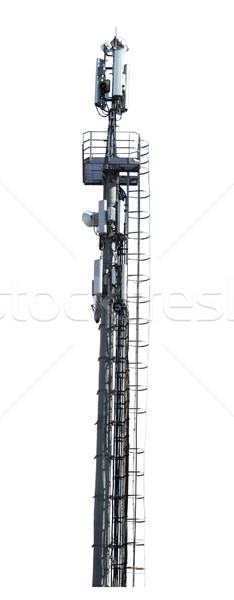Telecommunication tower with cellular transmitter Stock photo © cherezoff