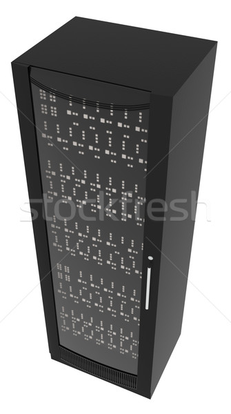Black metal locker on white Stock photo © cherezoff