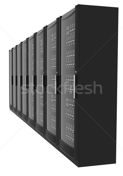 Set of metal lockers, side view Stock photo © cherezoff