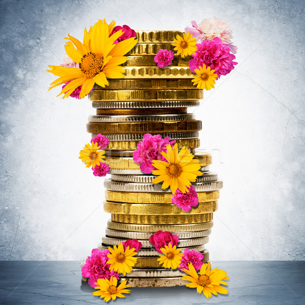 Stack of gold coins Stock photo © cherezoff