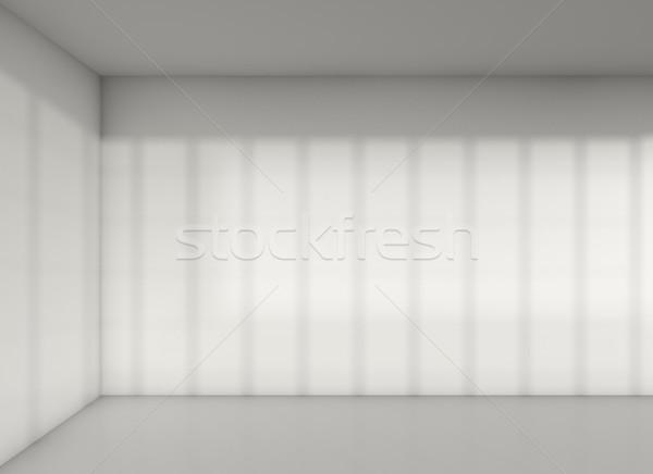 Vazio canto quarto sombra parede ilustração 3d Foto stock © cherezoff