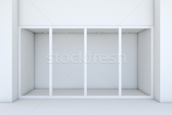 большой Windows белый магазине фасад 3D Сток-фото © cherezoff